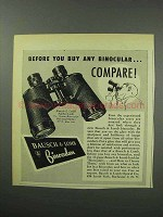 1950 Bausch & Lomb Binoculars Ad - Before You Buy