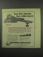 1950 Sierra Bullets Ad - Bench Rest Shooters Prefer