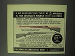 1950 F.I. Ad - F.N. Deluxe Mauser Rifle