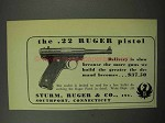 1950 Ruger .22 Pistol Ad - Delivery is Slow