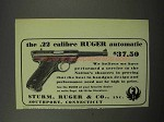 1950 Ruger .22 Calibre Ruger Automatic Pistol Ad
