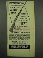 1950 F.I. Ad - F.N. De Luxe Mauser Rifle