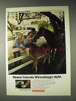 1973 Winnebago Brave Motor Home Ad - Makin' Friends