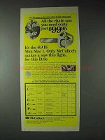 1973 McCulloch Mini Mac 1 Chain Saw Ad