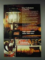 1973 Coleman Lantern Ad - Ask Someone Who Has One