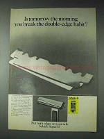 1973 Schick Super II Razor Ad - Break Double-Edge Habit