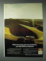 1973 Sunoco Special Motor Oil Ad - Hot and Heavy