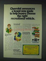 1973 Chevrolet RV Ad - Right Recreational Vehicle