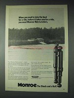 1973 Monroe Ride-Leveler Shocks Ad - Take For A Ride