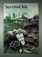 1973 Gabriel Hi Jackers Shocks Ad - Survival Kit
