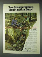 1973 Bear Forest Green Futurewood Bow Ad - Two Season