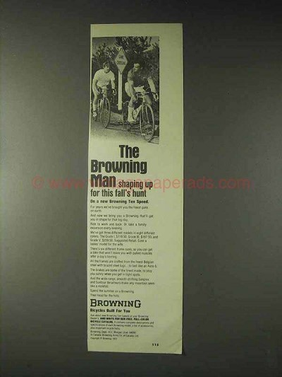 1973 Browning Ten Speed Bicycle Ad - Shaping Up