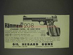 1973 Hammerli 208 Pistol Ad - Standard, .22 Long Rifle