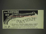 1973 Thompson/Center Arms Patriot Pistol Ad