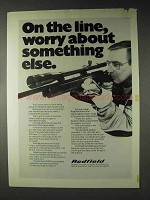 1972 Redfield 3200 Target Scope Ad - On the Line