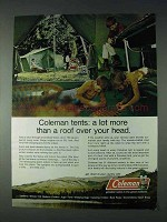 1972 Coleman Tents Ad - More Than A Roof Over Your Head