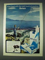 1972 Belair Cigarettes Ad - Start Fresh With Menthol