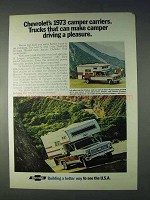 1973 Chevrolet Pickup Trucks and Campers Ad