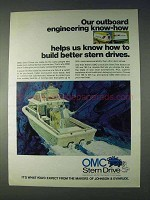 1972 OMC Stern Drive Ad - Engineering Know-How