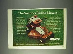 1972 Snapper Comet Riding Mower Ad!