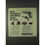 1972 Stoeger Llama Pistol Ad - Choice of Police Forces