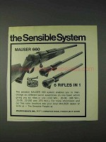 1972 Mauser 660 Rifle Ad - The Sensible System