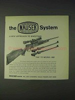1972 Mauser 660 Rifle Ad - New Approach to Shooting