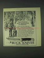 1972 Buck Knives Ad - Three Generations of Tradition