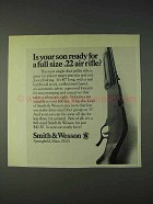 1972 Smith & Wesson .22 Air Rifle Ad - Your Son Ready?