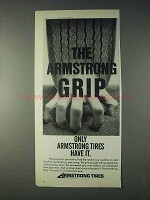 1971 Armstrong Tires Advertisement - The Armstrong Grip