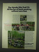 1971 Honda Mini Trail 70 Motorcycle Ad - All the Fun