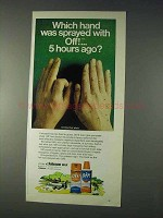 1971 Off! Bug Spray Ad - Which Hand Was Sprayed?