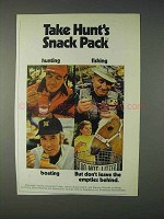 1971 Hunt's Snack Pack Puddings & Fruits Ad