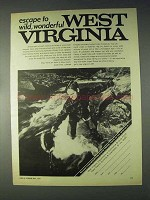 1970 West Virginia Tourism Ad - Wild, Wonderful