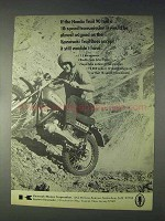 1970 Kawasaki Trail Boss Motorcycle Ad!