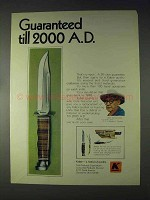 1970 Kabar Knives Ad - Guaranteed till 2000 A.D.