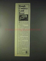 1970 Land Rover Truck Ad - Rough Country