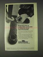 1970 Wolverine Durables Boots Ad - Comfortable