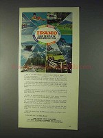 1969 Idaho Tourism Ad - World Would Like To Be