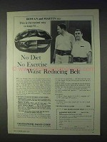 1969 Alexander Waist Reducing Belt Ad - Rowan & Martin