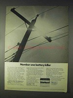 1969 Sears DieHard Battery Ad - Battery Killer