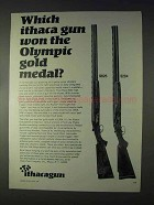 1968 Ithaca Gun Ad - 600 Trap, Competition I Trap Guns
