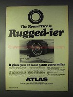 1968 Atlas Plycron Tire Ad - Rugged-ier