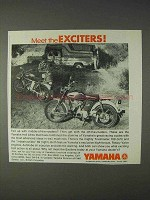 1968 Yamaha Trailmaster 100 and 80 Motorcycle Ad