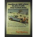 1966 Jeep Gladiator Pickup Truck Ad - Families Go Right