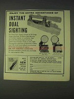 1966 Williams Gun Sight Ad - Instant Dual Sighting