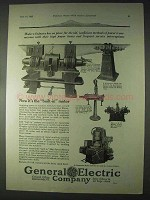 1922 G.E. Induction Motors Ad - Power Transmission