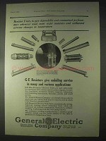 1922 General Electric Blue-Enameled Resistor Units Ad
