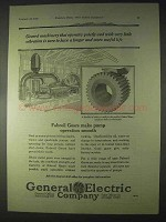 1922 General Electric Fabroil Gears Ad - Quietly