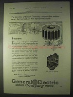 1922 G.E. Fabroil Gears Ad - An Achievement
